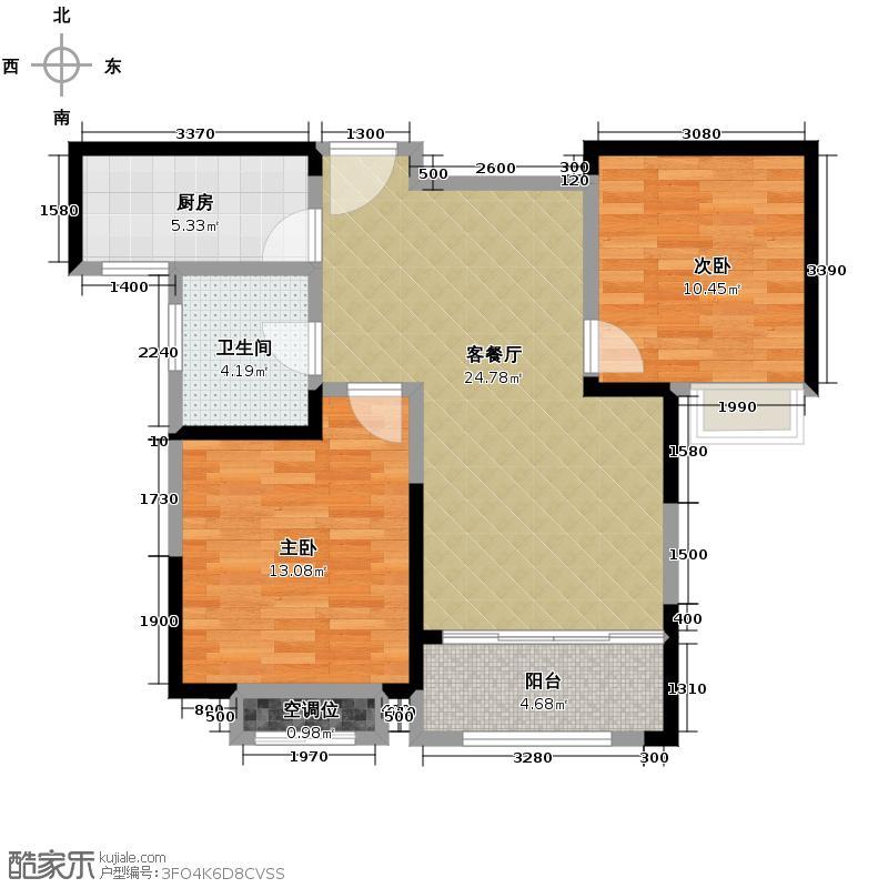 华地紫园89.00㎡23号楼户型10室