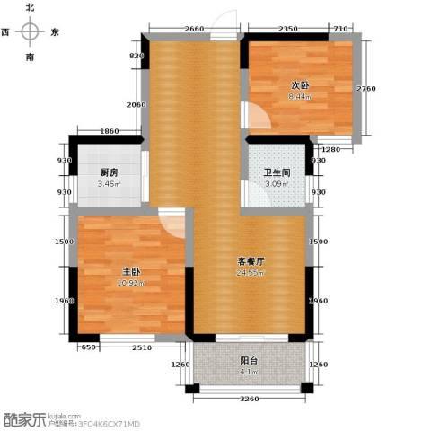 光盛豪庭2室2厅1卫0厨84.00㎡户型图