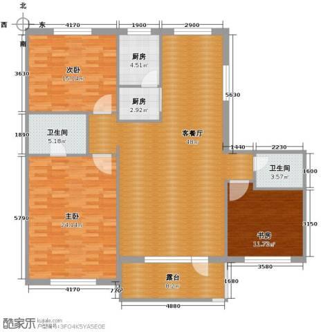 中国铁建国际花园169.00㎡户型图