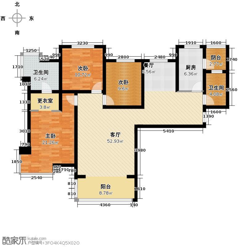 中和山水兴城151.00㎡A1/A4户型3室1厅2卫1厨