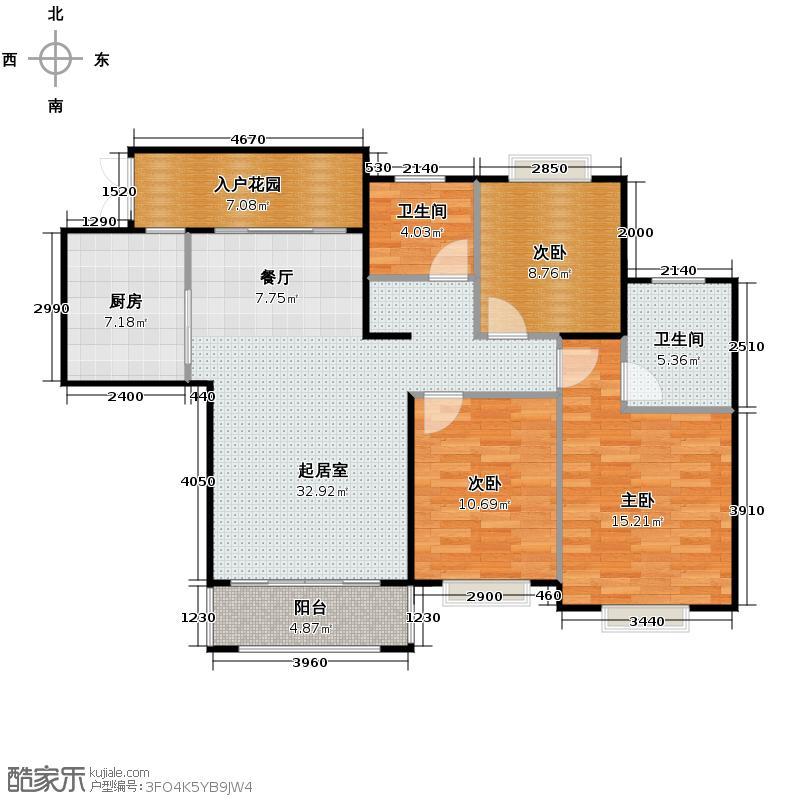 罗源湾滨海新城103.83㎡户型10室