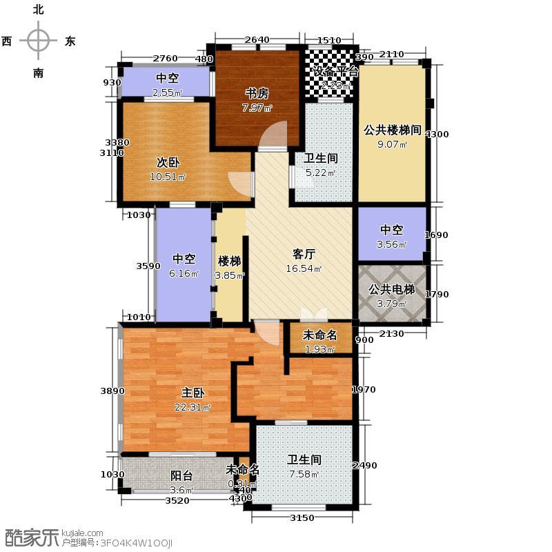 良渚文化村柳映坊240.00㎡跃层2层户型3室1厅2卫