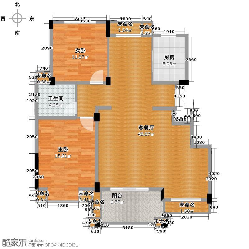 塘栖金石华城106.30㎡美林苑g1户型2室1厅1卫1厨