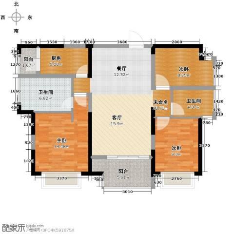 旭辉华庭3室0厅2卫1厨113.00㎡户型图