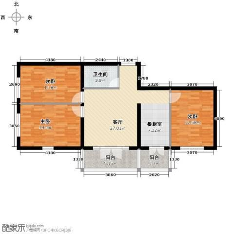 鼎源名座3室1厅1卫0厨118.00㎡户型图