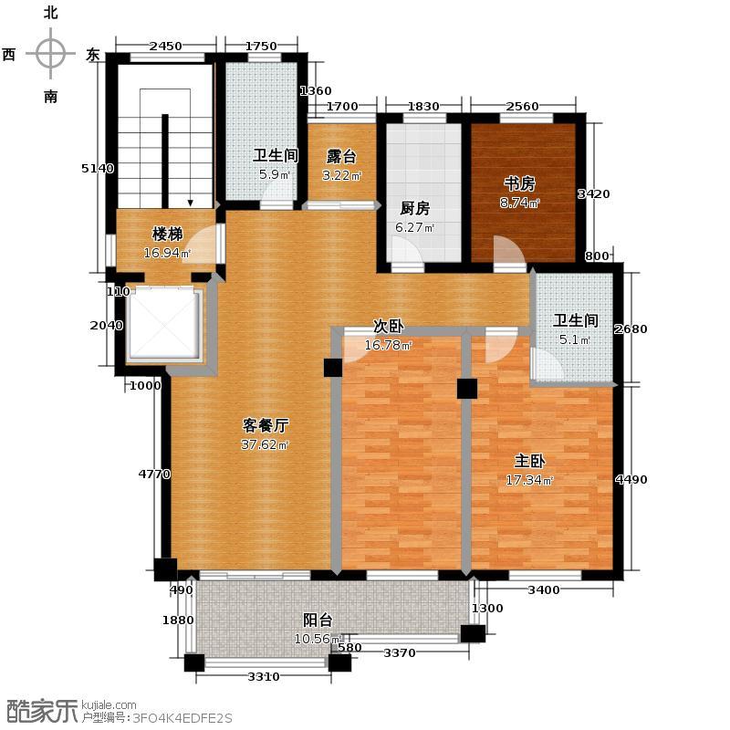 汇宇花园147.83㎡户型3室1厅2卫1厨