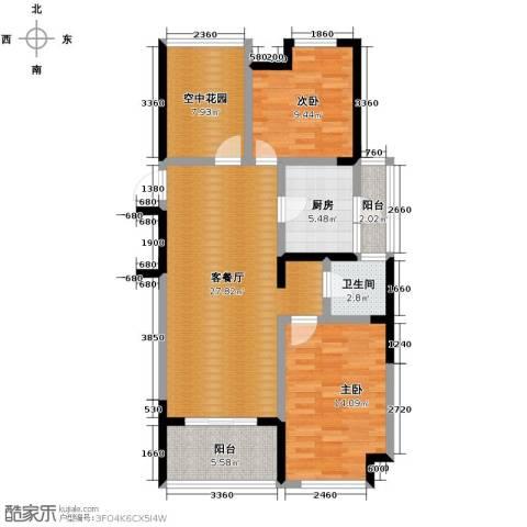 金辉・悦府2室2厅1卫0厨90.00㎡户型图