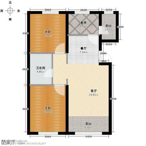 金昌国际2室2厅1卫0厨88.00㎡户型图