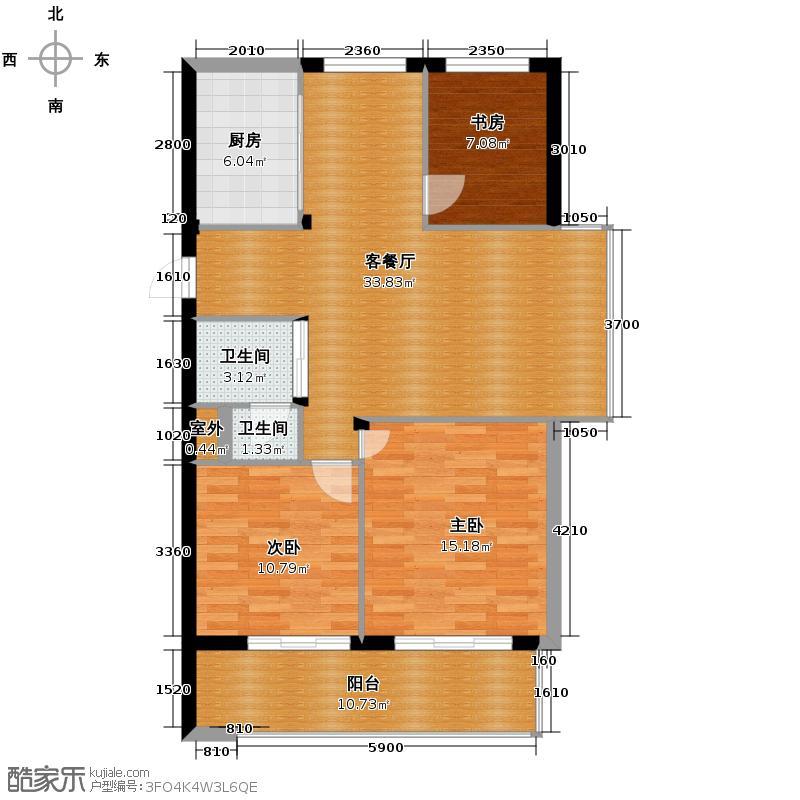 随园嘉树110.00㎡C2户型3室1厅2卫1厨