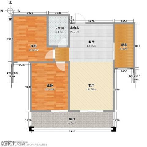 水岸豪庭2室0厅1卫1厨104.00㎡户型图