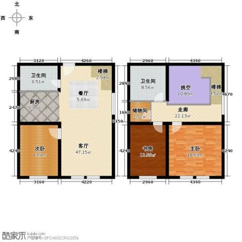 金昌国际3室2厅2卫0厨131.65㎡户型图