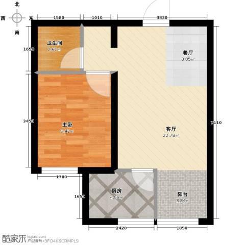 金昌国际1室1厅1卫0厨54.00㎡户型图