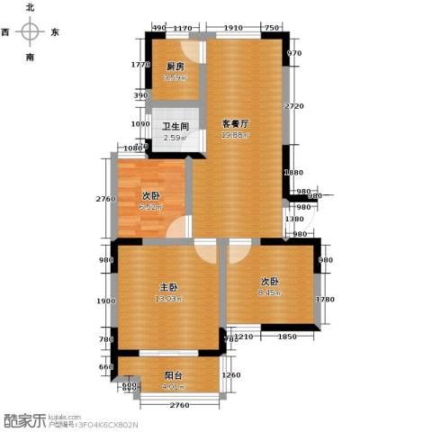 光盛豪庭3室2厅1卫0厨89.00㎡户型图