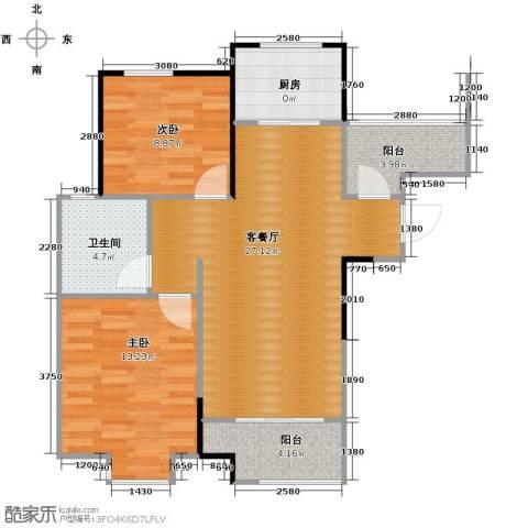 祥源城2室2厅1卫0厨88.00㎡户型图