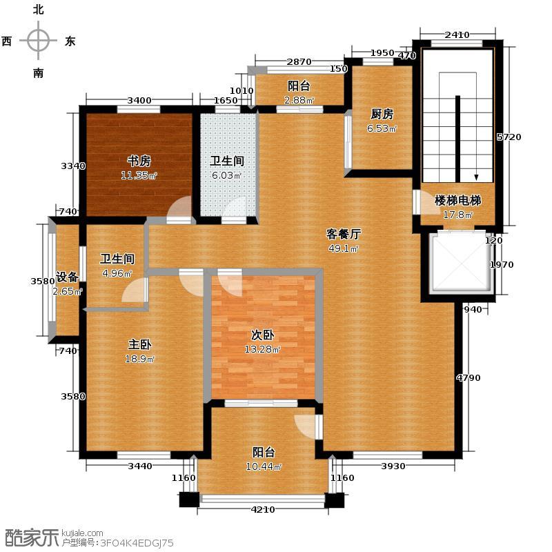 汇宇花园163.98㎡户型3室1厅2卫1厨