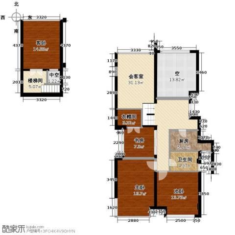 华鸿罗兰春天4室0厅1卫1厨116.27㎡户型图