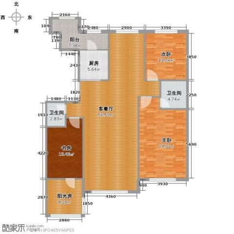 中国铁建国际花园184.00㎡户型图