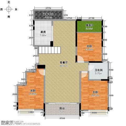 华地紫园4室2厅2卫0厨132.00㎡户型图