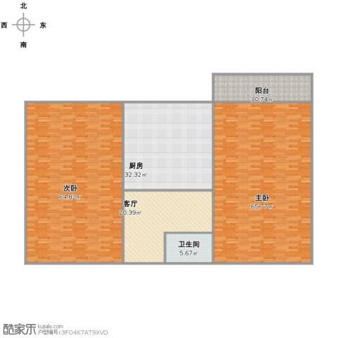 甸柳小区2室1厅1卫1厨260.00㎡户型图