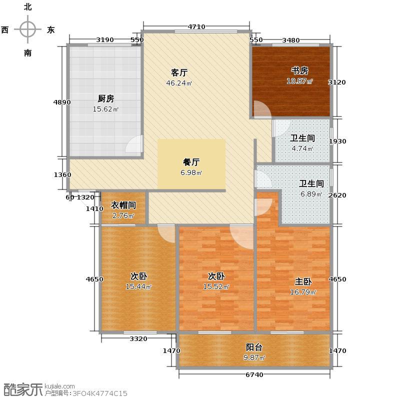 通城六和源别墅166.48㎡户型4室1厅2卫1厨