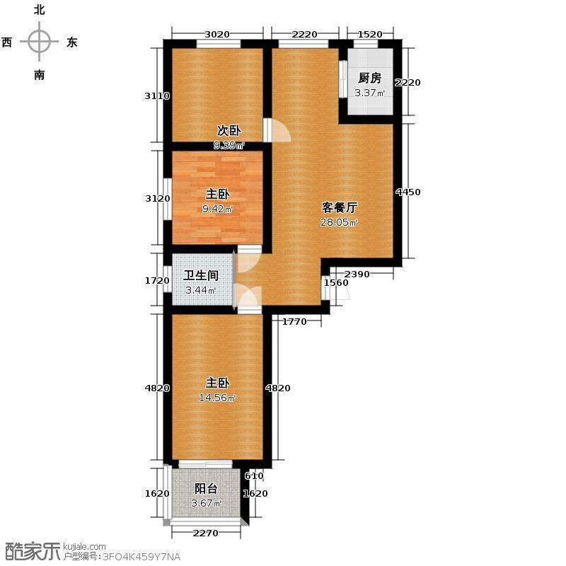 汇锦城123.00㎡G户型3室1厅1卫1厨
