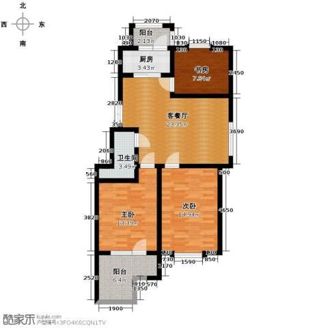 中天富城3室2厅1卫0厨95.00㎡户型图