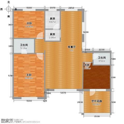 中国铁建国际花园171.00㎡户型图