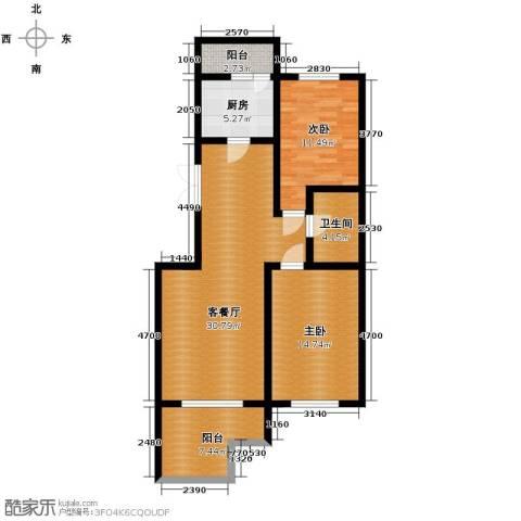 中天富城2室2厅1卫0厨92.00㎡户型图