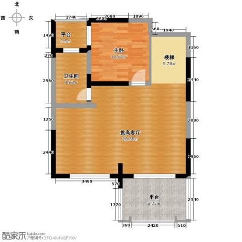 保利东湾1室0厅1卫0厨91.00㎡户型图