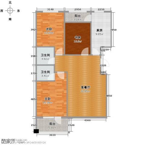 中国铁建国际花园133.00㎡户型图