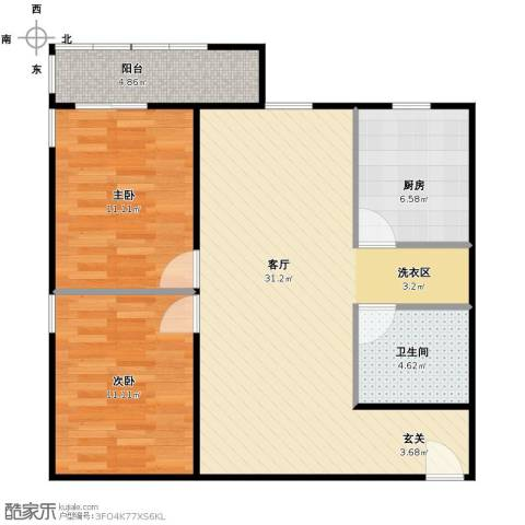 学知园2室1厅1卫1厨94.00㎡户型图