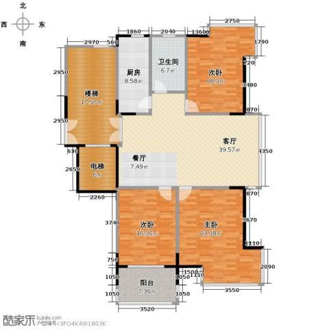 左邻右舍3室1厅1卫1厨144.21㎡户型图