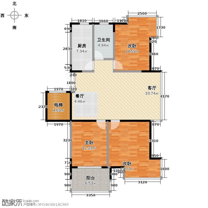 左邻右舍115.00㎡名城户型3室1厅1卫1厨