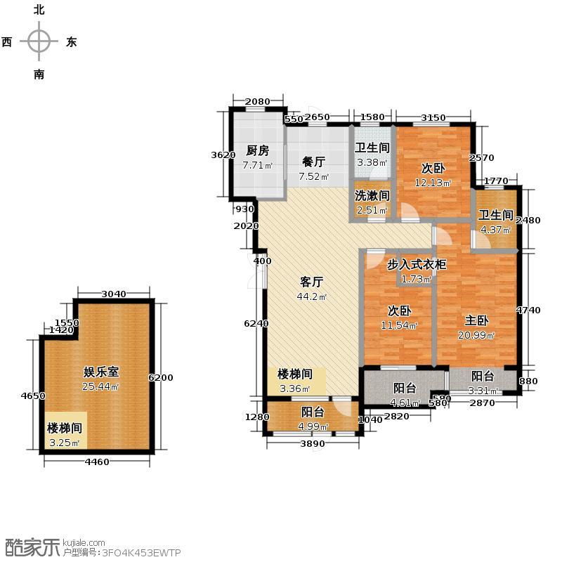 汇锦城149.29㎡豪门府邸11#1层C户型3室1厅2卫1厨