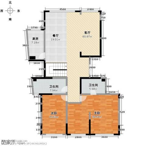 海威国际2室1厅2卫1厨295.00㎡户型图