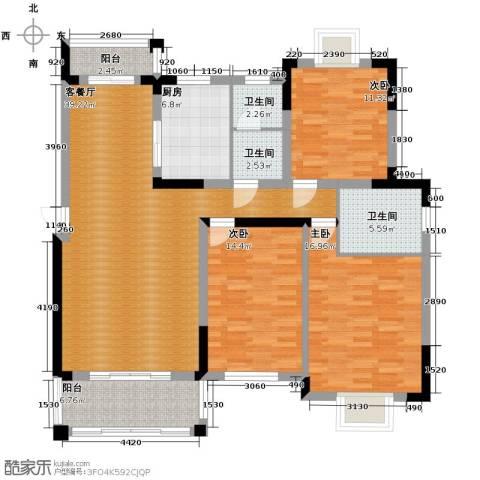 博雅湘水湾3室1厅3卫1厨139.00㎡户型图