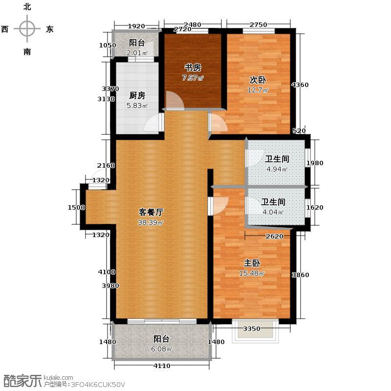 立汇美罗湾86.53㎡四期三居户型3室2厅2卫