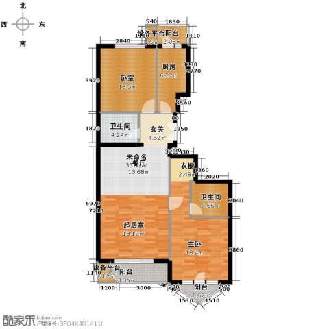 世纪东方城1室0厅2卫1厨105.00㎡户型图