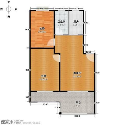 东林锦峰苑2室1厅1卫1厨73.00㎡户型图