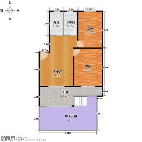 东林锦峰苑2室1厅1卫1厨101.36㎡户型图