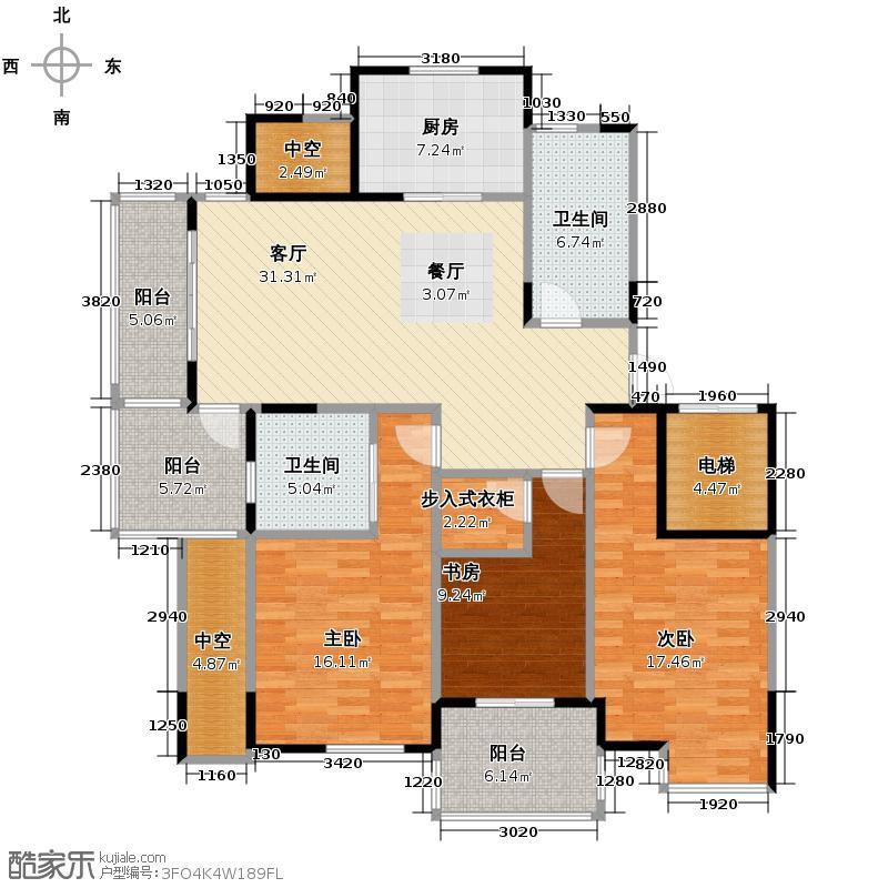 左邻右舍129.00㎡名城户型3室1厅2卫1厨