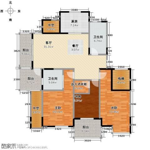 左邻右舍3室1厅2卫1厨129.00㎡户型图