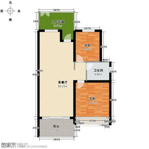 森林湖2室2厅1卫0厨99.00㎡户型图