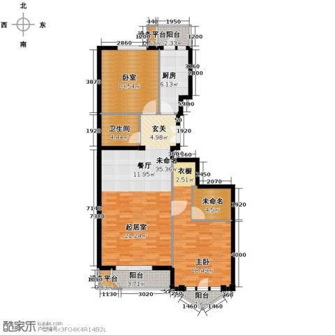 世纪东方城1室0厅1卫1厨106.00㎡户型图