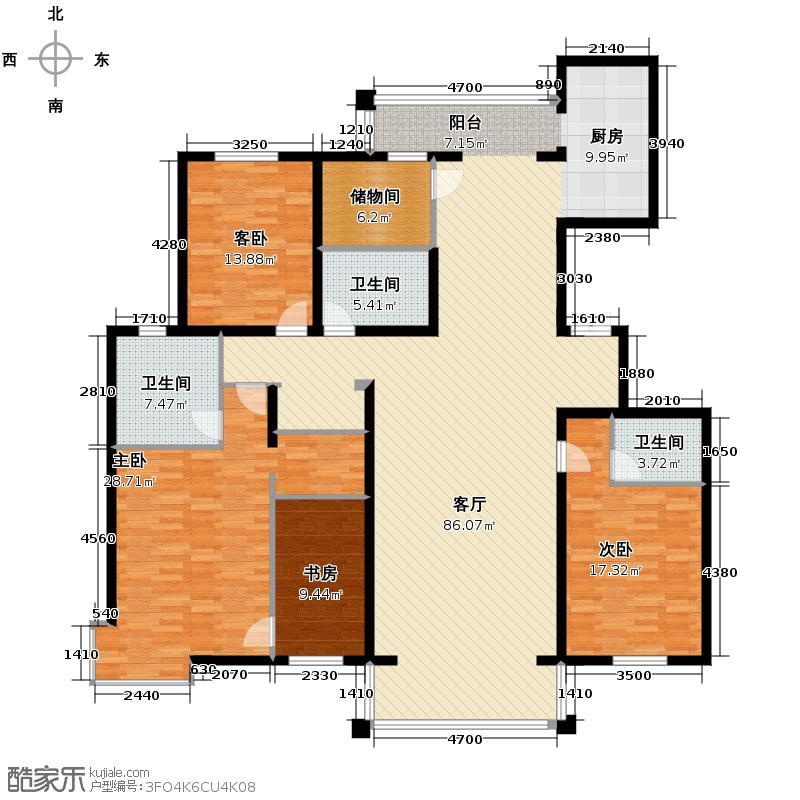 兰庭・中关村197.47㎡7#8#-B1-户型10室