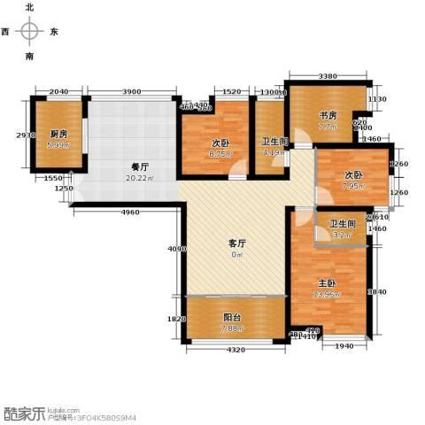 保利花园4室1厅2卫1厨147.00㎡户型图