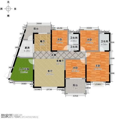 筑梦佳园4室1厅2卫1厨157.00㎡户型图