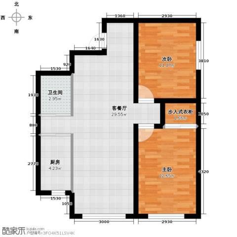嘉柏湾2室1厅1卫1厨79.00㎡户型图
