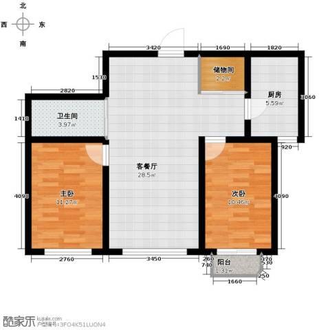 嘉柏湾2室1厅1卫1厨95.00㎡户型图