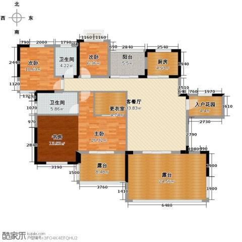 人信太子湾3室1厅2卫1厨142.00㎡户型图